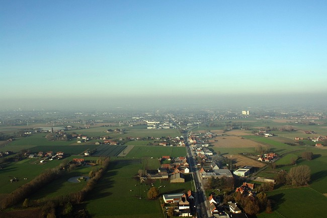 hot air balloon ride in Ypres, Belgium